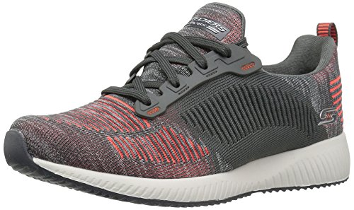 Skechers Damen Bobs Mannschaft, Charcoal/Orange, 39 EU