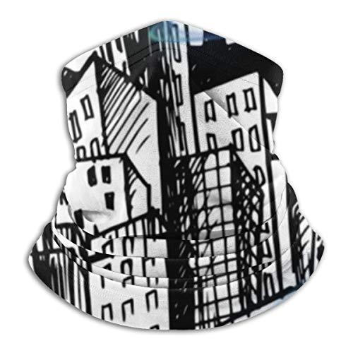 Akhy Multifunctional Headwear Face Mask Headband Neck Gaiter City Circle Balaclava for Men and Women