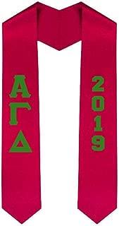 Custom Alpha Gamma Delta Greek Lettered Graduation Sash Stole with Year