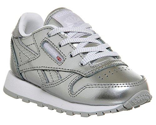 Reebok Classic Leather Metallic, Baskets Mixte bébé, Argenté (Silver/White), 22 EU
