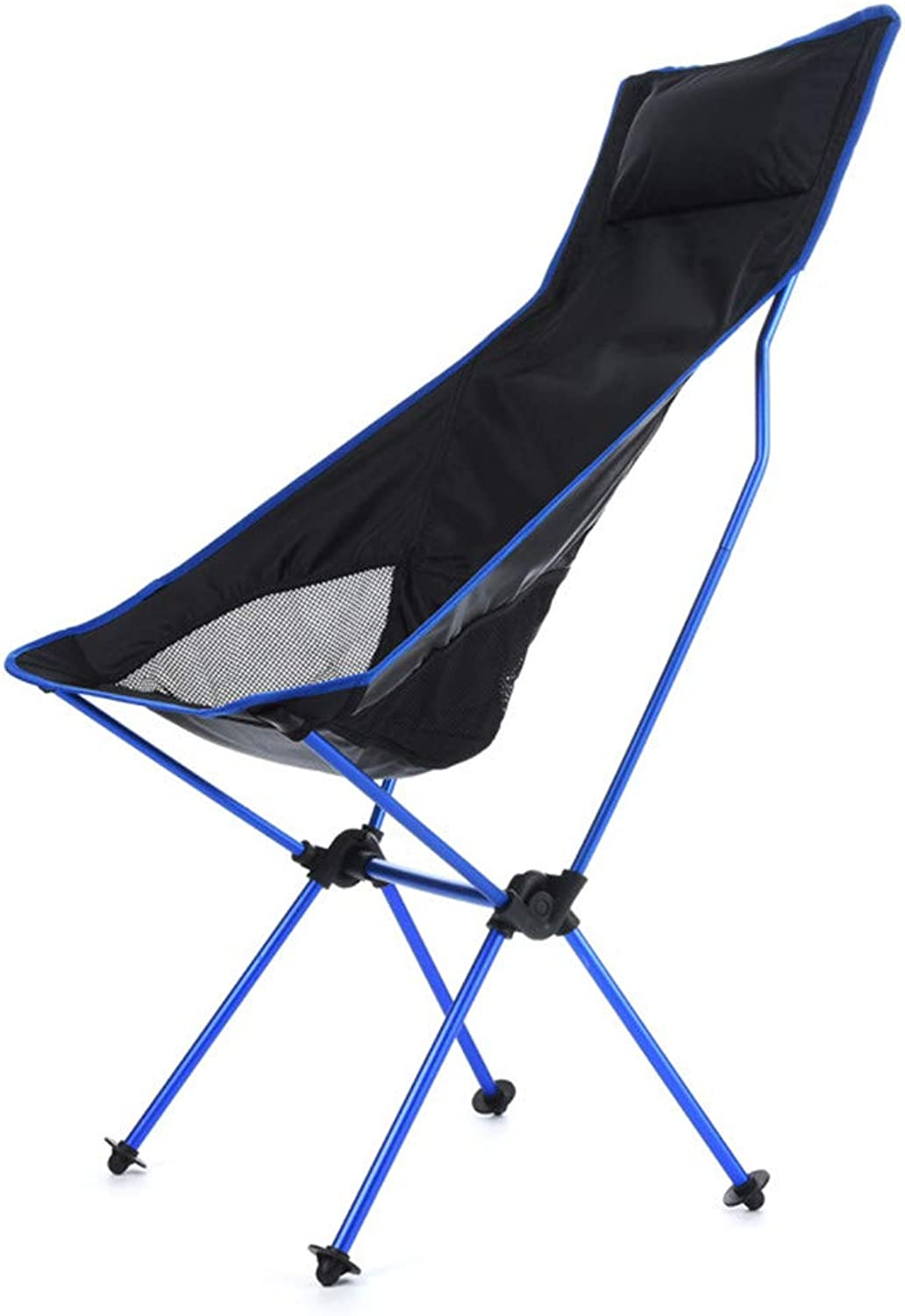 Ultralight Folding Chair Fishing Chair with Cushions, 900D Oxford Camping Chair Beach Chairs Made of 7075 Aircraft Aluminum loadable up to 150 kg, Foldable, Lightweight