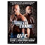 KONGQTE America Official UFC 88 Chuck Liddell vs Rashad Evans Sport Cool Poster Stampa su Tela Pittura Wall Art for Boxe Palestra Soggiorno Arredamento Camera da letto-50x70cm Senza Cornice