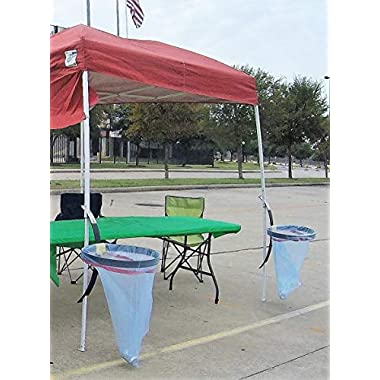 BRAND NEW TO AMAZON! Hang N Out TOO Canopy Trash Bag Holder For Tailgating, Camping or Any Outdoor Event!