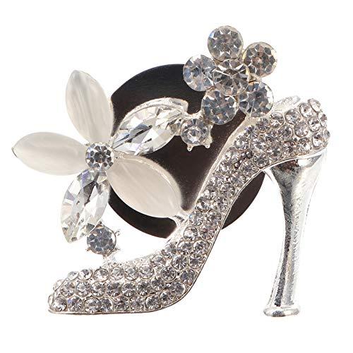 VICASKY Clips de Ventilación de Coche Bling Zapato de Tacón Alto Accesorios de Coche Zapato de Cristal Diamante de Imitación Perfume de Aromaterapia Decoración para La Decoración Interior