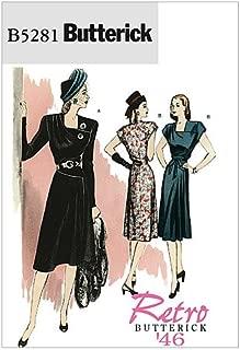 BUTTERICK PATTERNS B5281 Misses' Dress and Belt, Size AA (6-8-10-12)