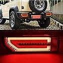 IIWOJ LED Rückleuchte Fit Für Suzuki JIMNY Jimny 2019 2020 Rückfahrleuchte Bremslichter Feststellbremslicht Durchfluss Blinker 1 Paar,Rot