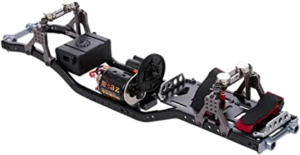 GoolRC RC Car Frame Carbon Fiber Metal Car Chassis Beam with 540 Motor for AXIAL SCX10 RC Crawler Climbing Car DIY