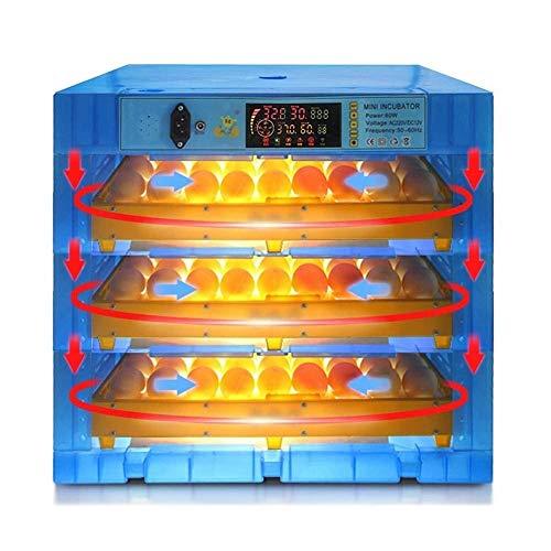 XKCGYEierbrutschrank-Heizung und Brutschrank 192 Eier Automatische Dreh-Temperatur-Luftfeuchtigkeitsregelung zum Brüten von Geflügel-Hühnchen-Enten-Tauben-Wachteln