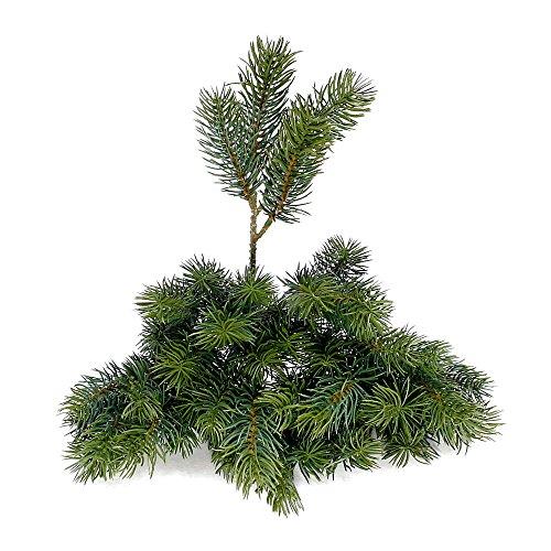 12x Tannenzweige grün, x4 Triebe, L 12/24cm, Kunststoff, Outdoor !!!