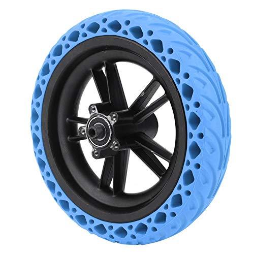 FOLOSAFENAR Patrón Antideslizante sin pinchazo Ajustado flexiblemente neumático de Goma para Scooter neumático antiexplosión, para XI, aomi M365(Blue)