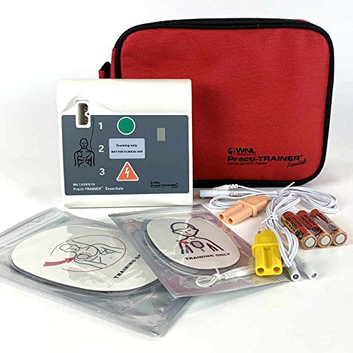WNL Products WL120ES10 AED Defibrillator Practi-Trainer Essentials Base Model AED Training Kit (1 Pack Kit)