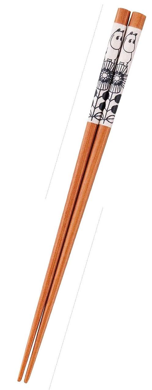 音声学発送年齢MOOMIN (ムーミン) 「 ムーミンバレー 」 箸 リース柄 MM1401-840