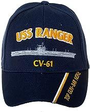 Officially Licensed United States Navy USS Ranger CV-61 Embroidered Navy Blue Baseball Cap