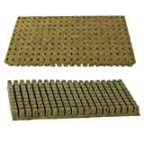 Grodan A-OK 1'x1' Sheet of 200 Rockwool / Stonewool Starter Cubes for Cuttings, Cloning, Plant Propagation, and Seed Starting