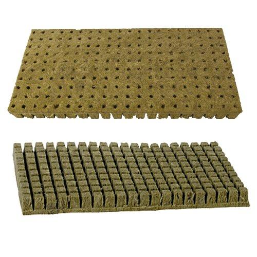 A-OK Feuille de 200 cubes de démarrage en laine de roche/pierre 2,5 x 2,5 cm pour boutures, clonage, propagation des plantes et semences Pack Of 1