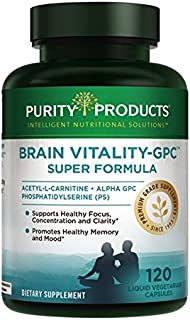 Sponsored Ad - Brain Vitality-GPC Super Formula by Purity Products - Acetyl L-Carnitine HCI + Alpha GPC + Phosphatidlyseri...