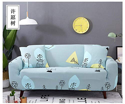 Allenger Funda de Sofá Poliéster,Funda de sofá elástica con Estampado de Flores, Funda de sofá Antideslizante Universal para Todas Las Estaciones, lavable-20_145-185cm