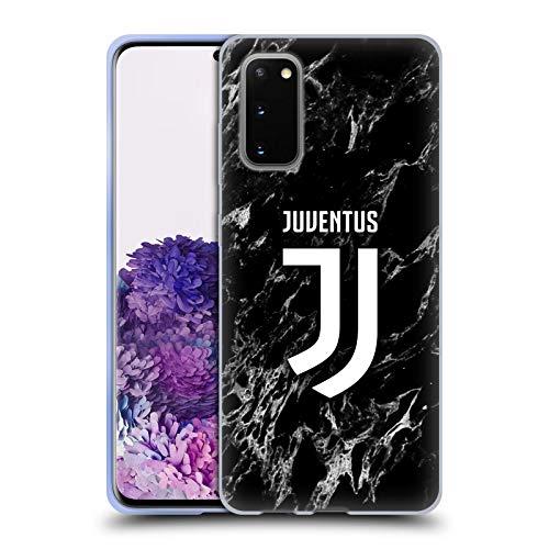 Head Case Designs Offizielle Juventus Football Club Schwarz Marmor Soft Gel Handyhülle Hülle Huelle kompatibel mit Samsung Galaxy S20 / S20 5G
