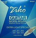2 Juegos de cuerdas marca Ziko para guitarra eléctrica Mode