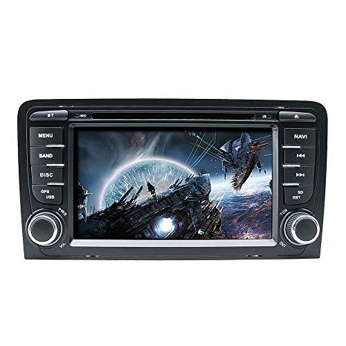 FWZJ para Audi A3 S3 RS3 7'Reproductor de DVD para automóvil Radio Estéreo Sistema GPS Reproductor Multimedia para automóvil con cámara de visión Trasera Tarjeta de mapa1