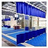 XXIOJUN Telo Scorrevole Trasparente Tende Divisorie Impermeabili Bicolore Resistenti all'Acqua per Esterno, Fabbrica, Officina, Personalizzabile (Color : Blue, Size : 3.6x2.4m)