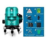 Alta precisión Nivel láser Luz azul Nivelación automática 2 línea 3 línea 5...