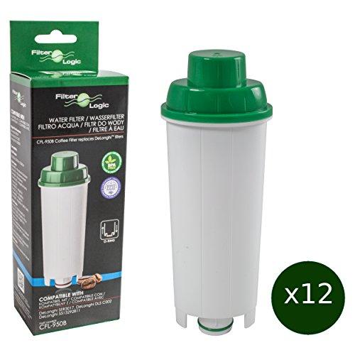 12 x FilterLogic CFL-950B - waterfilter voor DeLonghi koffiezetapparaat - vervangt DLS C002 / DLSC002 / SER3017 / SER 3017 / 5513292811 filterpatronen - geschikt voor ECAM ETAM EAM EC685 EC860 BCO modellen