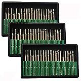 Brccee AC 60 Pcs Diamond Burr Bits Drill Glass Gemstone Metal for Craftsman Rotary Tool 1/8' Shanks w/ Box Tip