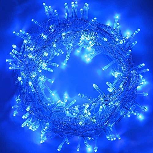 LED Lichterkette, KooPower 11M 100LEDs Wasserdicht Lichterketten mit Fernbedienung & Timer,8 Modi Balkonbeleuchtung für Weihnachten Outdoor Außen Innen Dekoration Kinderzimmer Hochzeit Wohnzimmer Blau
