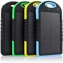 Waller PAA 300000mAh Portable Waterproof Solar Charger Dual USB External Battery Power Bank (Blue+Black)