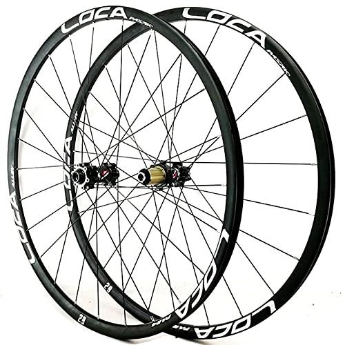Zatnec Ciclismo Ruedas Ruedas Bicicleta Montaña 26/27.5/29 Pulgadas Freno Disco Volante Cassette 7/8/9/10/11/12 Velocidad Llantas Delantera Y Trasera Eje Pasante 1600g (Color : B, Size : 27.5inch)
