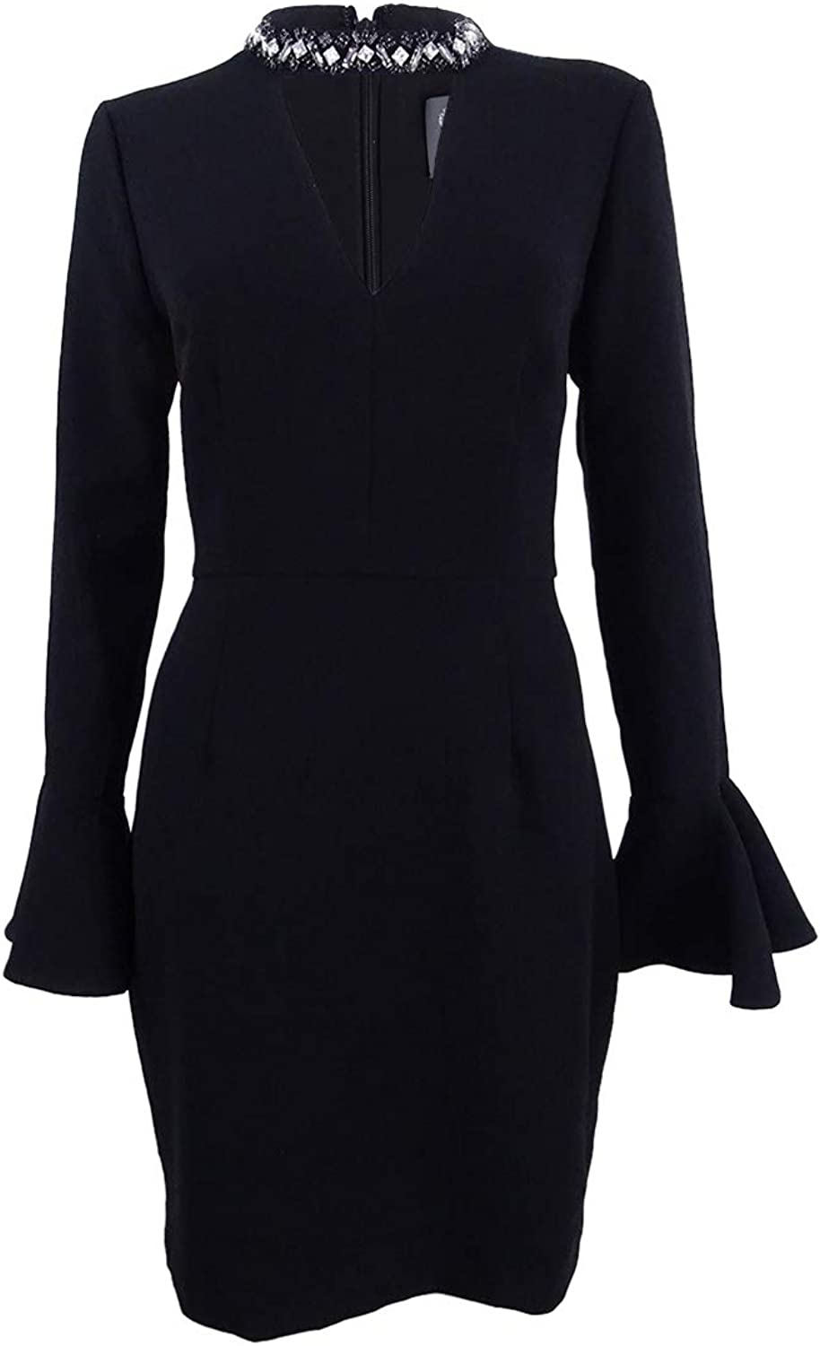 Vince Camuto Womens Embellished Choker Party Dress