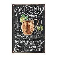 Moscow Mule Cocktail ティンサイン ポスター ン サイン プレート ブリキ看板 ホーム バーために
