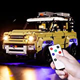 Vonado Led Lighting Kit for Land Rover Defenders Off-Roader Vehicle Technology Building Kit,Compatible with Lego 42110 Building Blocks Toys Festival (Lights Only)