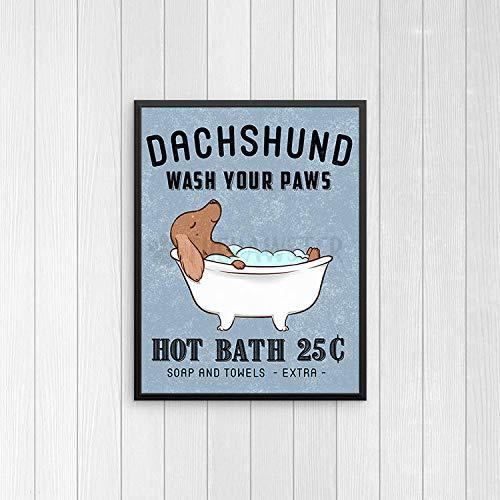 Timprint Dachshund Bathroom Wall Decor Wiener Dog Funny Bathroom Art Print Wall Art Bathroom Signs Dog Bath Quote Wall Art Bathroom Poster Framed Print Buy Online In Albania At Albania Desertcart Com Productid