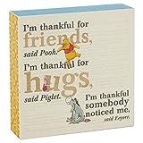 Hallmark Winnie the Pooh I'm Thankful For Friends Sentiment Wooden Display