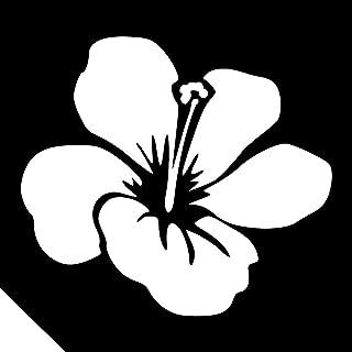 25pc. Glitter Tattoo Stencil - Hawaiian Hibiscus ~ Single Use/Self Adhesive