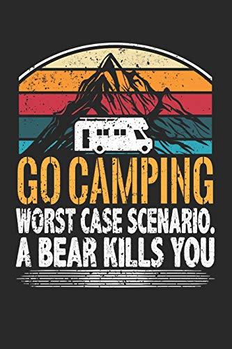 Mein Reisetagebuch: Dein persönliches Tourenbuch für Wohnmobil, Wohnwagen und Campingreisen ♦ Vorlage für Streckenaufzeichnungen, Bewertungen, ... 6x9 Format ♦ Motiv: Go camping 26