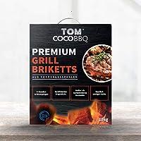 TOM COCO BBQ 10 kg brykiet do grilla premium z łupin kokosowych, kolor czarny