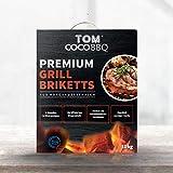 TOM COCO BBQ 10KG Premium mattoni per barbecue in mattoni di cocco, nero