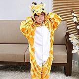 ALBRIGHT Kinder Overall Cosplay Cartoon Kostüm Giraffe, Tier Onesie Nachthemd Schlafanzug Kapuzenpullover Nachtwäsche für Weihnachten Halloween Karnival Party 130(120-130cm)