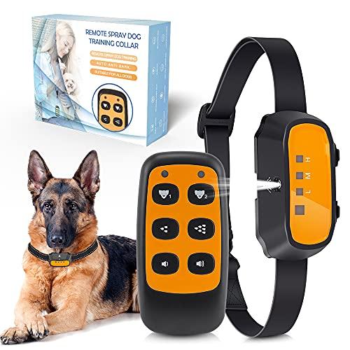 ULPEAK Dog Training Collar, 2 in 1 Remote &Spray Bark Collar, Rechargeable...
