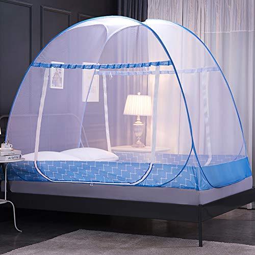 ZZPP Pop-up Moustiquaire,1 Entrées Gratuit Installation Pliage,Se Protéger Efficacement des Moustiques Mailles Voyage Moustiquaire D 200x120x150cm