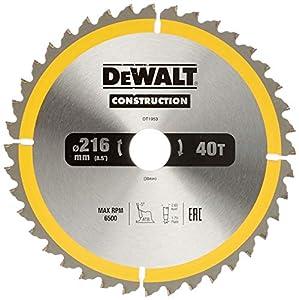 Dewalt DT1953-QZ DT1953-QZ-Hoja para Sierra Circular estacionaria 216x30mm 40D ATB-5º, 0 W, 0 V, Multicolor, talla única