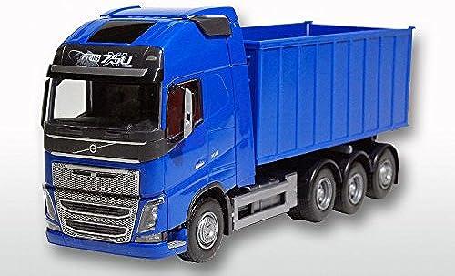 EMEK - 20854 - Volvo FH 8x4 mit Abrollmulde   komplett blau 1 25