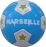 Ballon de Football 'Marseille, Mixte Enfant, Multicolore (Ciel/Blanc), Taille Unique