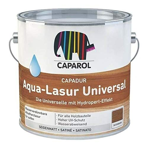 Caparol Capadur Aqua-Lasur Universal - walnuß 2,5 Liter - optimaler UV-Schutz