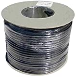 Aerials RG6 - Cable Digital coaxial para televisor (100 m), Color Negro