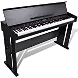 Festnight Elektro Klavier Digital E-Piano E-Klavier mit 88 Tasten & Notenablage LED-Anzeige