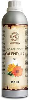 Ringelblumenöl Natürlich 250ml - 100% Reines Calendulaöl - Calendula Officinalis - Calendula Öl Basisöl für Gesicht - Haare - für Massage - Kosmetik - Körperpflege